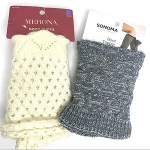 Sonoma & Merona boot toppers. NWT